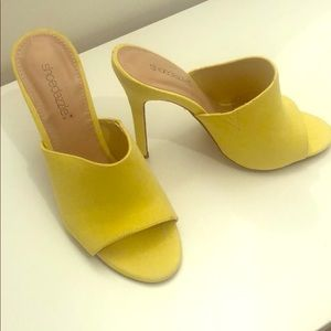 Bright Neon Yellow Heels